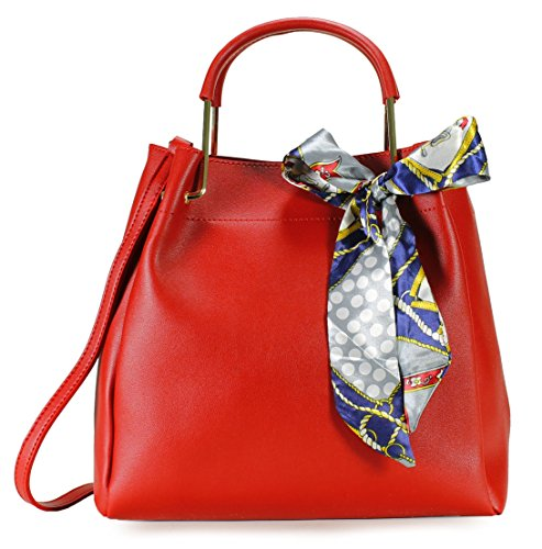 Scarleton Chic Bow Satchel H201610 - Red (Handbag Chic Red)