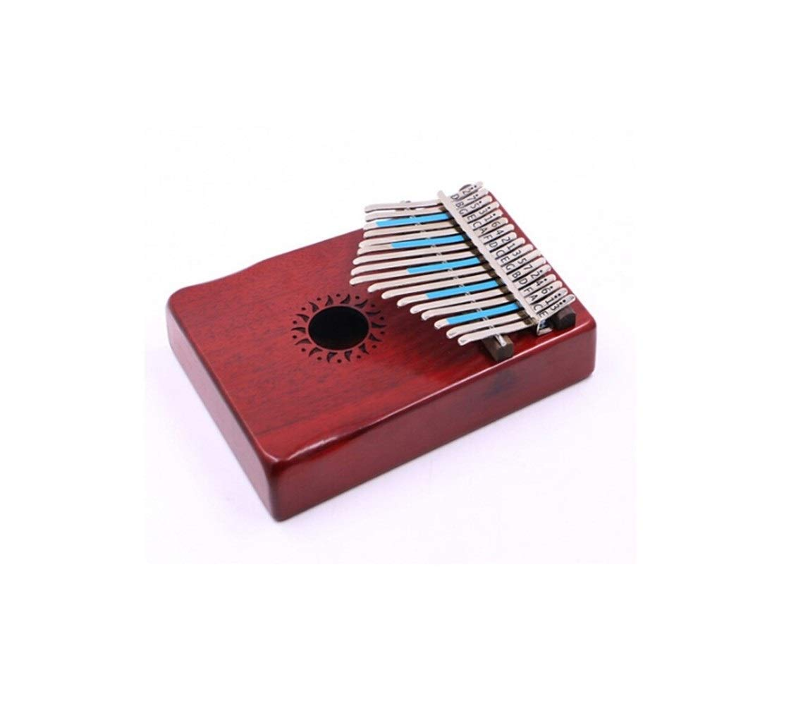 Qiyuezhuangshi Kalimba, retro 17-key thumb piano, suitable for beginners to professionally play finger piano piano, (gift; violin case) Easy to use (Color : 1)