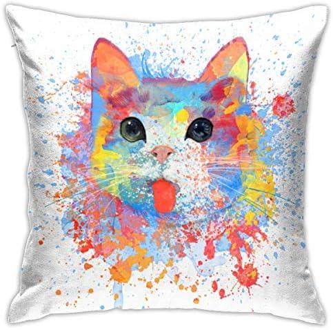 水彩猫 枕 安眠枕 快眠 洗える 健康枕 高反発枕 横向き対応 高級ホテルのような贅沢な眠り 通気性抜群 抗菌 防臭 丸洗い可能