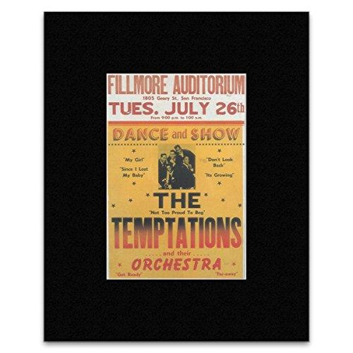The Temptations - Fillmore Auditorium San Francisco 1966 Mini Poster