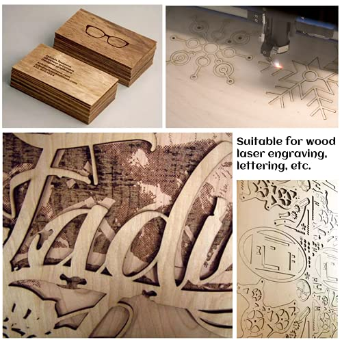 MUXGOA 20 Pcs Balsa Wood Sheets,DIY Wood Crafts Unfinished Wood for Wooden DIY Ornaments, Scrabble Tiles, House Aircraft Ship Boat, School Projects (150x100x2mm)