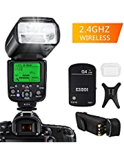 Flash Speedlite per Nikon,ESDDI I-TTL Kit Flash professionale con trigger flash wireless, 1/8000 HSS Wireless Flash Speedlite GN58 2.4G Master slave wireless radio per Nikon DSLR (Flash Nikon)