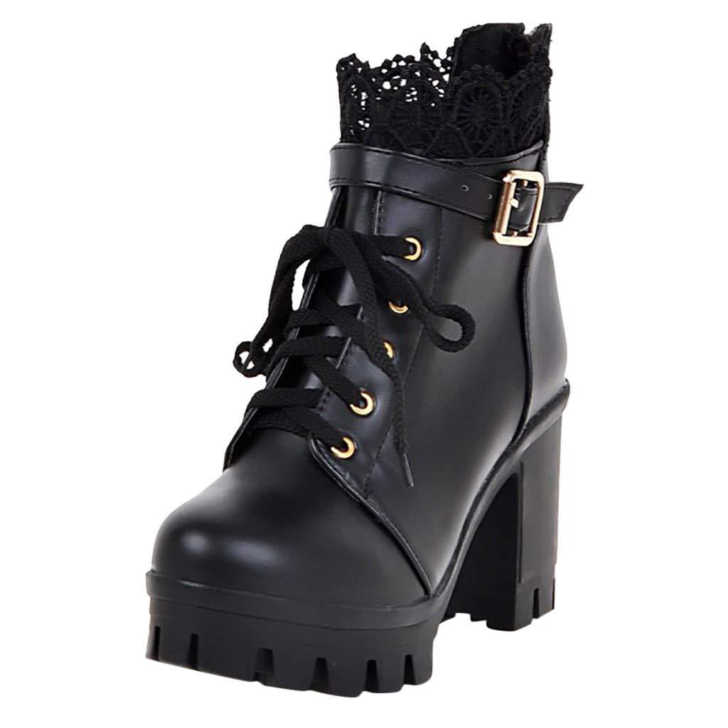 f88d057b420 Limsea Women Mesh Zip Bootie Slip On Ankle Stacked Block Heel Open Peep Toe  Lace Party Singel Shoes