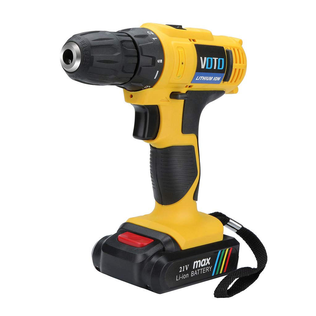 JDgoods VOTO 21V LED Electric Cordless Impact MAX Lithium Ion Drill/Driver
