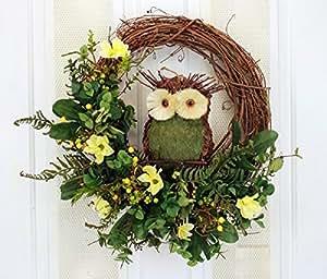 The Wise One Silk Floral Wreath for Front Door Indoor Outdoor Summer Decor