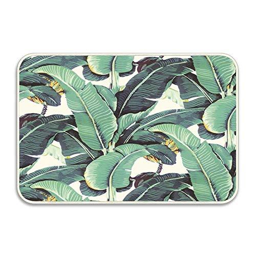 Banana Leaves Pattern Blanche Devereaux Style Doormat Indoor Outdoor Entrance Rug Floor Mats Shoe Scraper Door Mat Non-Slip Home Decor, Rubber Backing 16x24 Inches (Best Of Blanche Devereaux)