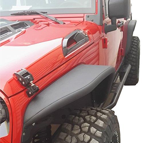 Safaripal Jeep Wrangler Fender Flares Aluminum 2007-2016 Jeep Wrangler Jk and Unlimited