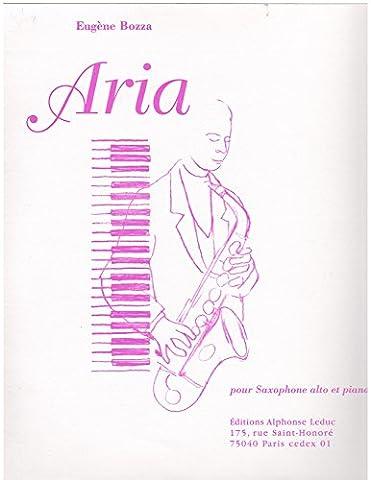 Aria for Alto Saxophone and Piano by Eugene Bozza (1936) Sheet music (Aria Sheet Music)