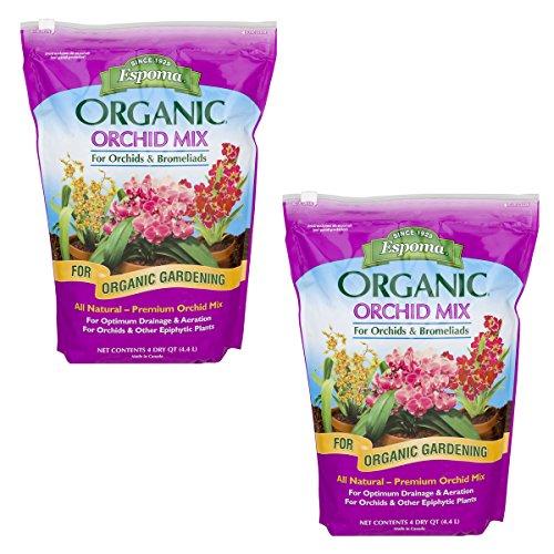 Espoma OR4 Organic Orchid Mix Potting Soil, 4-Quart (2)