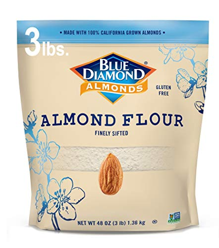 Blue Diamond Almond Flour, Gluten Free, Blanched, Finely Sifted 3 lb bag ()
