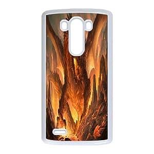 LG G3 Phone Case White Ancient Dragon VJN351697