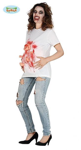 Shoperama Schwangere Zombie Frau Damen Halloween Kostum Horror T
