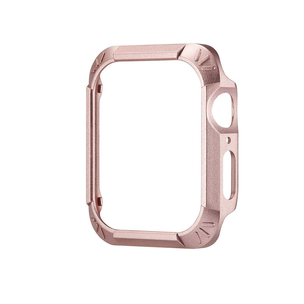 Soft Ultra Thin Cases Cover,Saying For Apple Watch/iWatch Series 4 44mm Cases Protective Soft TPU+PC Silicone Protection Case Replace organizer (Rose Gold)