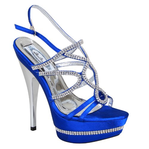 New Brieten Womens Rhinestone Platform High Heel Dress Sandals KBD7aztPjF