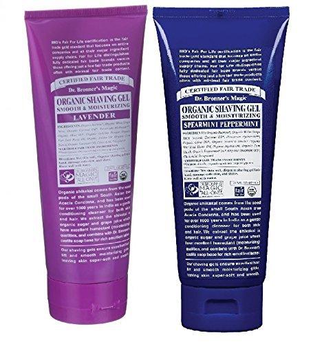 Dr. Bronner's Organic Shaving Gel Lavender and Peppermint 7fl. oz. 2 (Mint Shaving Gel)