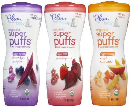 Plum Organics Super Puffs - Variety Pack - 1.5 oz - 3 pk
