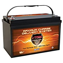 Vmaxtanks MR137 AGM Battery 120AH Marine powerboat pontoon Boat ideal for 55lb thrust -110lb thrust Minn Kota, Newport Vessels, Cobra, Sevylor and other trolling motors. VMAX MR137-120 Deep Cycle 12V 120Ah Battery BCI group 31