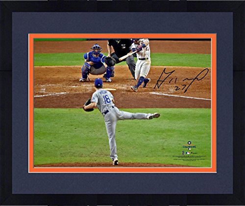 Framed Jose Altuve Houston Astros 2017 MLB World Series Champions Autographed 16