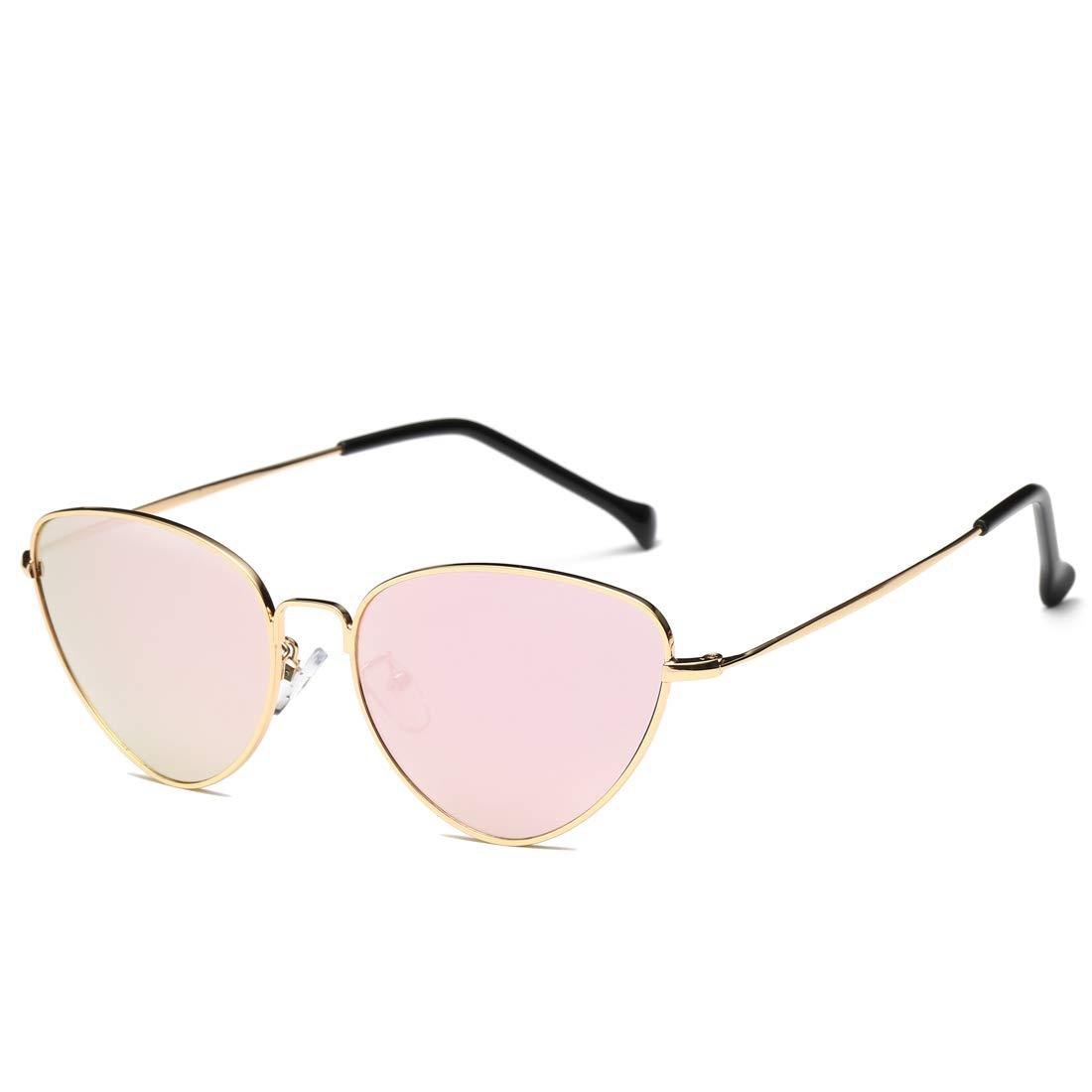 New Metal Cat Eye American Fashion Unisex Personalities Colorful Films Sea Glasses Sunglasses