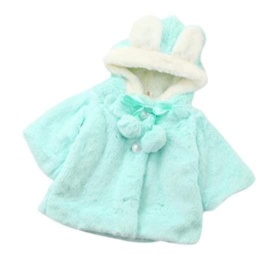 67aa6b47f Baby Girls Hooded Fur Winter Warm Coat Cloak Jacket Thick Warm Clothes (6  Month
