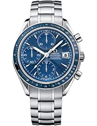 Omega Men's 3212.80.00 Speedmaster Date Automatic Chronometer Chronograph Blue Dial Watch