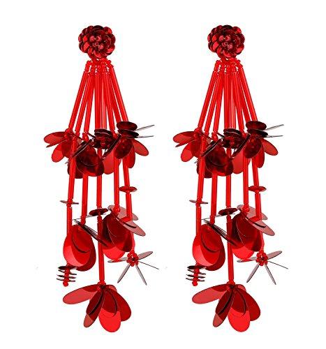 - Long Tassel Drop Earrings Floral Butterfly Dangle Earrings Chandelier Earrings for Women Party Jewelry