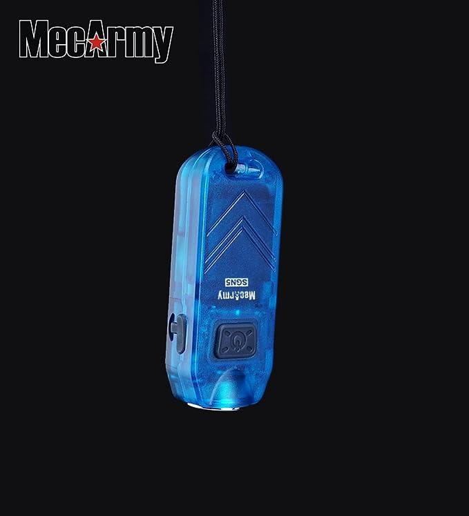 MecArmy SGN3 EDC Porte-cl/és Torches CREE XP-G2 LED Torche Microm/étrique de 160 lumens 3 Modes Blanc UV et Rouge Lampe de poche Imperm/éable Rechargeable de Keychain