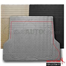 BDK MT-785-GR Heavy Duty Diamond Plate Cargo Trunk Floor Mat, Trimmable Pattern, All Weather Protection