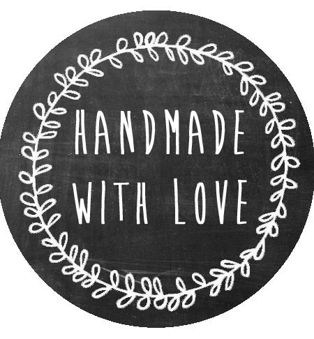 150 Handmade With Love Stickers - 1.5 in Stickers - Rustic Handmade Stickers - Handmade Packaging - Made With (Packaging Supplies)