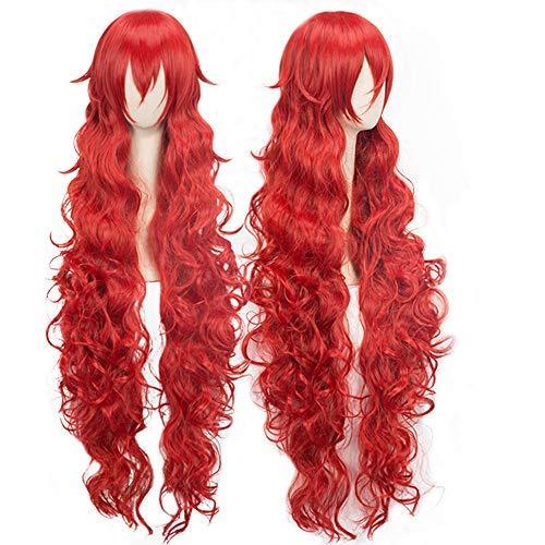 最高級のスーパー magic Wig acgn Long Length: Wave 43inch Wave red Party Game Hair Hair Anime Cosplay Wig Halloween Wig [並行輸入品] B07N4TBLGJ, ルナサンドウェブショップ:e99865e5 --- a0267596.xsph.ru