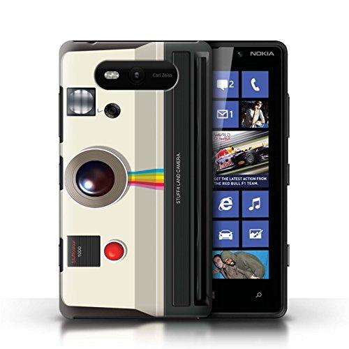 Coque en plastique pour Nokia Lumia 820 Collection Appareil Photo - Instantanée Retro