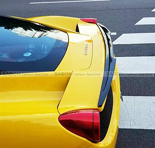 Wings Italia (Car Styling Rear Trunk Lid Spoiler Boot Wing for Ferrari 458 ITALIA Carbon Fiber)