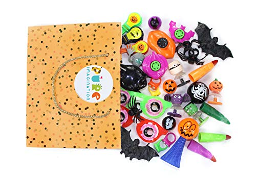 Pure Imagination 100pc Halloween Party Favors & Trick or Treat Toys! The Best Assortment of Favor Toys for The Classroom, Birthdays and Halloween Parties!]()
