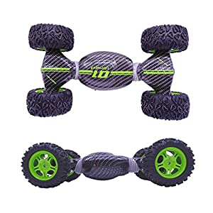 Maveek 4WD Tortional Deformation Double-Side RC Cross Country 360 Drift Spin Rotation Car 2.4 Ghz Speed Racing Stunt Remote Control