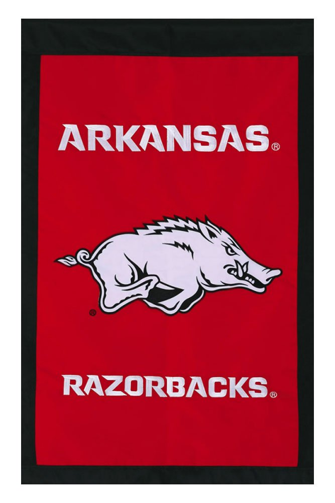 University of Arkansas - 28'' x 44'' Double Sided Appliqued NCAA Banner
