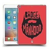 Head Case Designs Badge Of Manhood Bearded Bravado Hard Back Case for Apple iPad Pro 2 9.7 (2017)