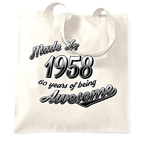 Birthday Bag 1958 White Shopping 60 Made Awesome Being 60th Years TqZgcdTH