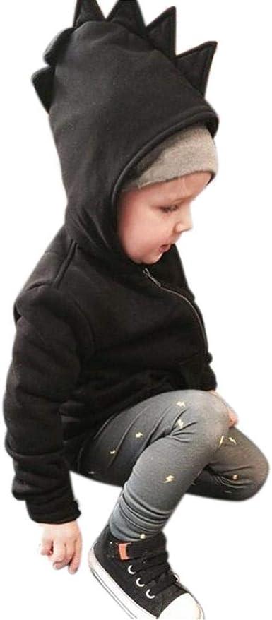 Kids Toddler Boys Dinosaur Hoodie Coat Jacket Autumn Winter Hooded Outerwear Top