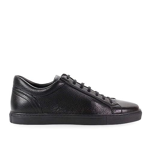 sports shoes a45b9 b0077 MORESCHI Scarpe da Uomo Sneaker Pelle Nera Autunno Inverno ...