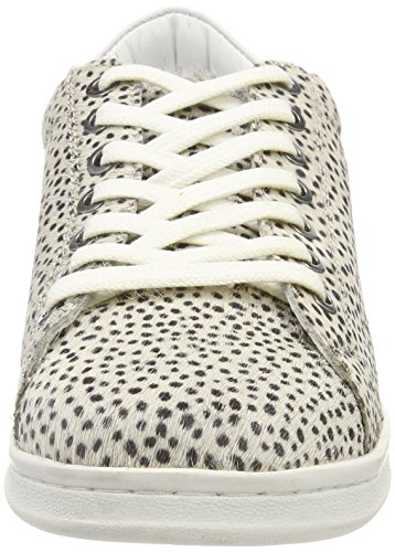Maruti Damen Nena Hairon Sneaker In Pelle Grau (pixel Offwhite / Nero)