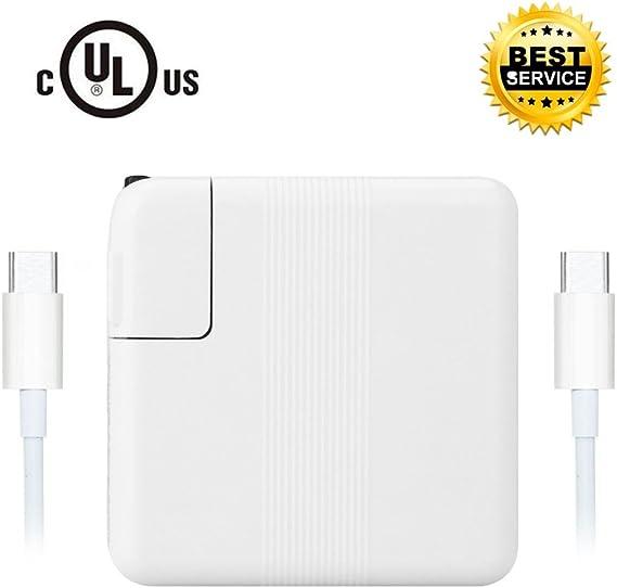Amazon.com: 61 W USB C adaptador de alimentación para Apple ...