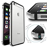 iPhone 6 Case, IFCASE Slim Aluminum Bumper(No Signal Reduce) TPU Inner Frame Dual Layer Shock Absorbing Phone Case for iPhone 6 & 6s (4.7 inch) Silver