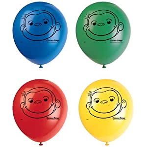 """Curious George 12"""" Latex Balloons (8 count)"""