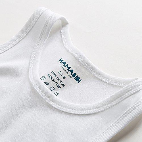 MAMABIBI Little Boys Undershirts Round Neck 100% Cotton Sleeveless T-Shirt 5 Pack by MAMABIBI (Image #4)