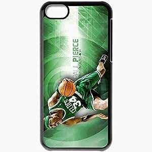 Personalized iPhone 5C Cell phone Case/Cover Skin Boston Celtics Logo Black