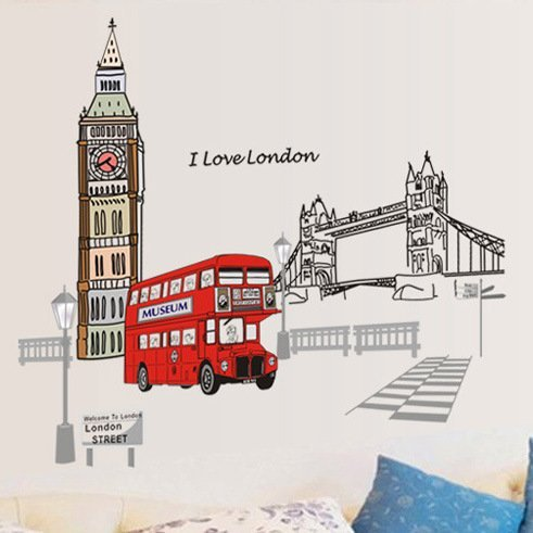 London Bedroom Removable Stickers