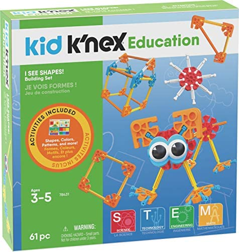 K'NEX Education Kid I See Shapes! Ages 3-5 Preschool Learning Toy Building Sets (61 Piece) (Amazon Exclusive)