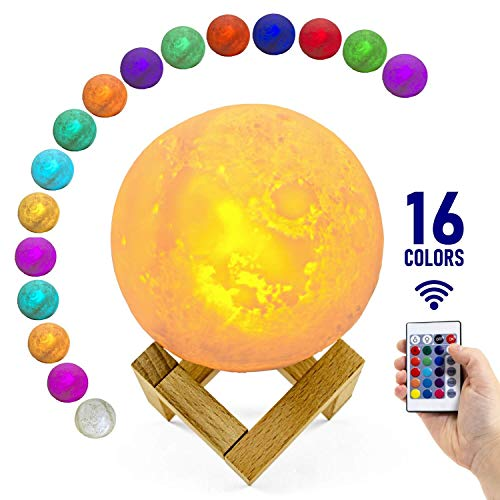 Large 3D Moon Lamp with Stand, 5.9