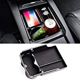 Jaronx for Tesla Model S/Model X Center Console Organizer, Armrest Storage Box+Cup Holder (Fit: Tesla Model S/Model X 2016 2017 2018)