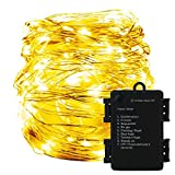 YMing LED Fairy Lights Low Voltage Copper Wire Lights with 8 Modes, Waterproof 60 LED Starry String Lights Timer Battery Box Firefly Lights for Christmas, Valentine's Day, Party, Wedding, Garden, Home, Festival (Warm White)
